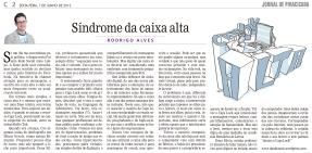 Síndrome da CAIXA ALTA