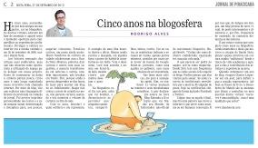 Cinco anos na blogosfera