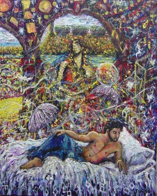 A obra Alegoria de Flora, de Robinson Tuon