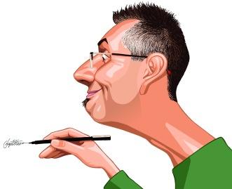 O caricaturista Baptistão