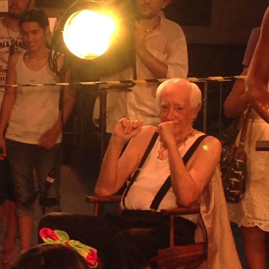 Zé Celso Martinez Correa durante a encenação de Cacilda!!!! em Piracicaba