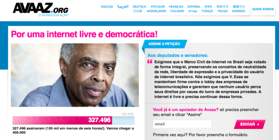 Gilberto Gil petição marco civil