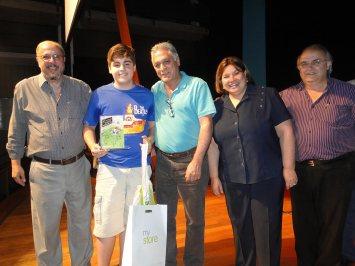 Enrico com Adolpho Queiroz, Gabriel Ferrato, Rosângela Camolese e Evaldo Vicente - Foto: Rafael Bitencourt