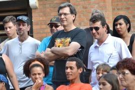 Alexandre Mate, ao centro, participa do Fentepira pela 5ª vez - foto Rodrigo Alves
